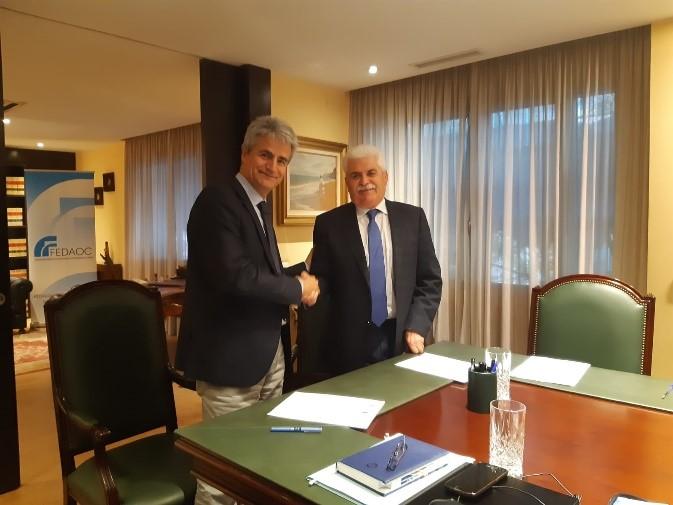 FENIE y FEDAOC firman un convenio de colaboración en materia de seguridad industrial